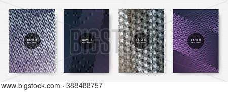 Zig Zag Lines Halftone Banner Templates Set, Vector Backgrounds For   Cover Layouts. Geometric Zig Z