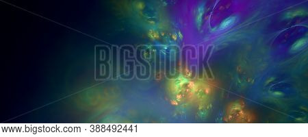 Computer Generated Fractal Abstract Shapes And Lines Light Background