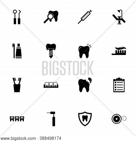 Dental Icon - Expand To Any Size - Change To Any Colour. Perfect Flat Vector Contains Such Icons As