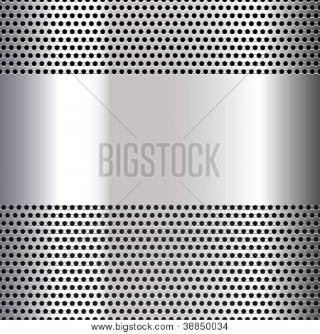 Gray background perforated sheet. This is file of EPS8 format. poster