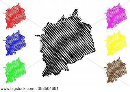 Saltillo City (united Mexican States, Mexico, Coahuila State) Map Vector Illustration, Scribble Sket