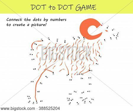 Connect The Dots By Numbers To Reveal A Sheep In This Dot-to-dot Educational Challenge For Kids. Pri