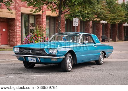 Toronto, Canada - 08 18 2018: 1967 Ford Thunderbird Hardtop Oldtimer Car Made By American Automaker