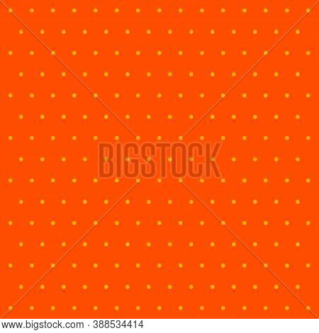 Halloween Pattern Polka Dots. Template Background In Orange And Yellow Polka Dots . Seamless Fabric