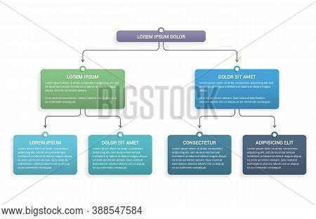 Flowchart With 3 Levels, Infographic Template For Web, Business, Presentations, Vector Eps10 Illustr