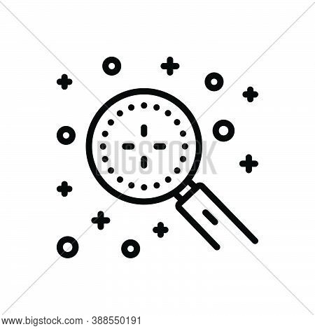Black Line Icon For Discover Magnifying Detect Explore Find-out Search Discovery Finding Recognize O
