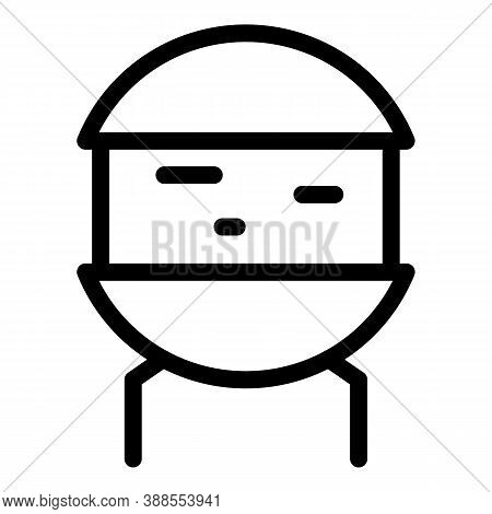 Electrolytic Capacitor Icon. Outline Electrolytic Capacitor Vector Icon For Web Design Isolated On W