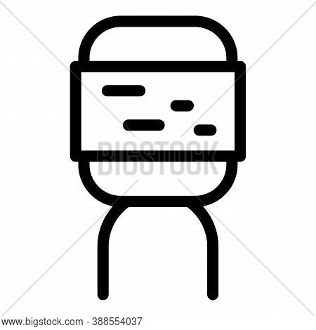 Condenser Capacitor Icon. Outline Condenser Capacitor Vector Icon For Web Design Isolated On White B