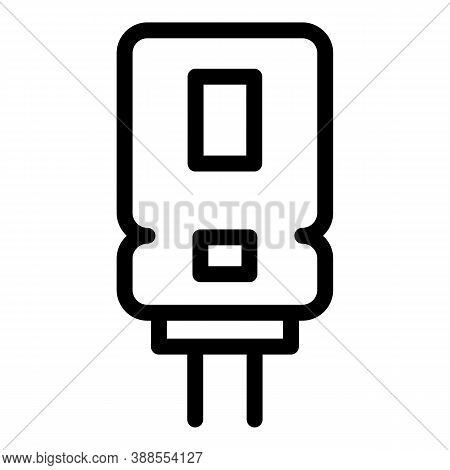 Aluminum Capacitor Icon. Outline Aluminum Capacitor Vector Icon For Web Design Isolated On White Bac