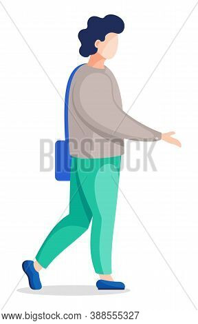 Profile View Of Man Or Woman In Clinic Isolated Cartoon Character. Vector Illustration Of Medical Do
