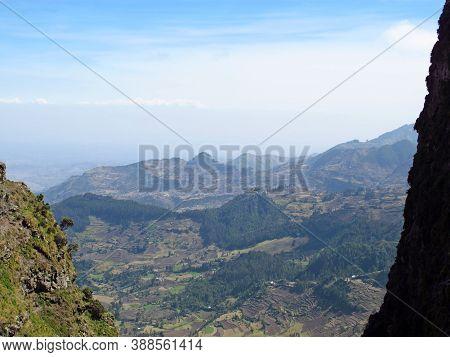 The View Of East African Rift Valley In Ethiopia