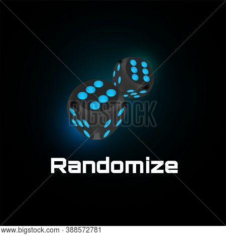 Randomization Instrument Tool Concept, Random Number Generator, Randomize Symbol Vector Illustration