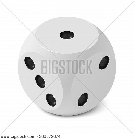 One Isometric Craps Game Dice, Matte Photo Realistic Material, 3d Render With Soft Shadows And Refle