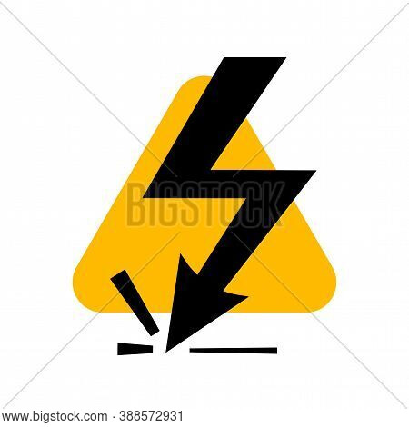 Attention Beware High Voltage Sign, Danger Symbol Isolated On White Background, Hazardous Vector Ill