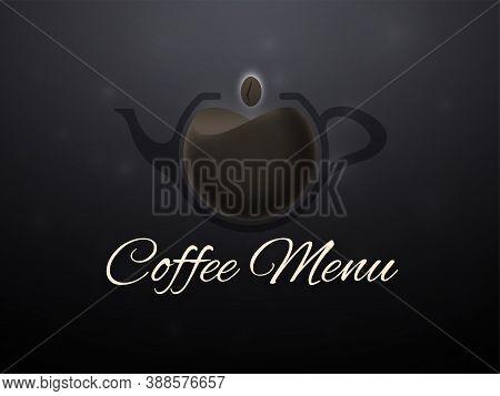 Coffee Menu Horizontal Banner, Design Vector Illustration