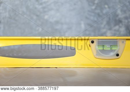 Measuring Equipment Used In Repair And Building. Waterpas. Measurement Instrument. Construction Tool