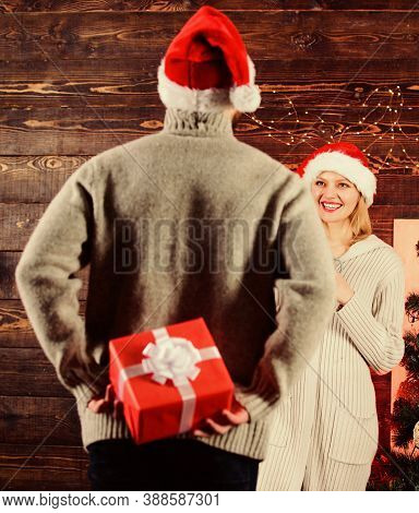Generosity And Kindness. Surprising His Wife. Prepare Surprise For Darling. Winter Surprise. Man Car