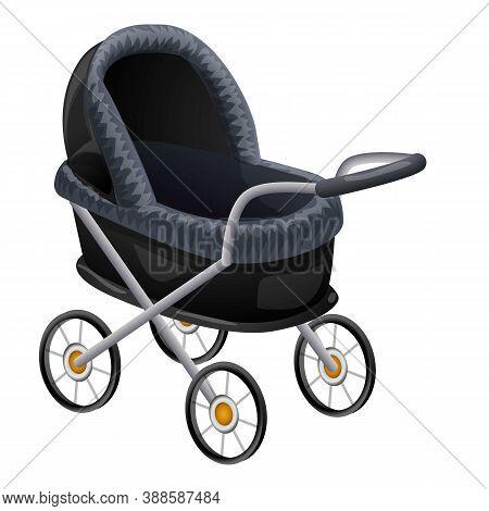 Pram Baby Icon. Cartoon Of Pram Baby Vector Icon For Web Design Isolated On White Background