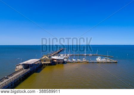 A Sunny October Day At The Fairhope, Alabama Pier On Mobile Bay