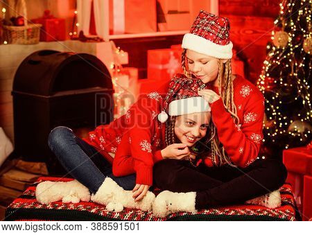 Girls Friends Soulmates Celebrate Christmas. Happy Holidays. Fun And Cheer. Best Friends Forever. Lo