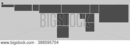 Photo Frames Mock-up. Photorealistic Blank Retro Photo Frames Over Gray Background. Collage For Phot
