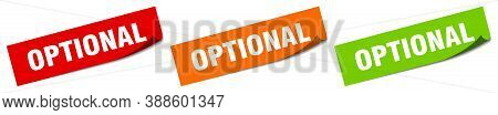 Optional Sticker. Optional Square Isolated Sign. Label