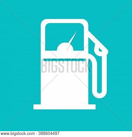 Gas Petrol Station Or Fuel Refill Icon Shape Vector, Gasoline Oil Pump Sign Symbol Flat Cartoon Isol