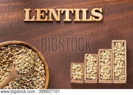 Raw Lentils - Lens Culinaris. Statistical Table Of Sale And Consumption Of Lentils