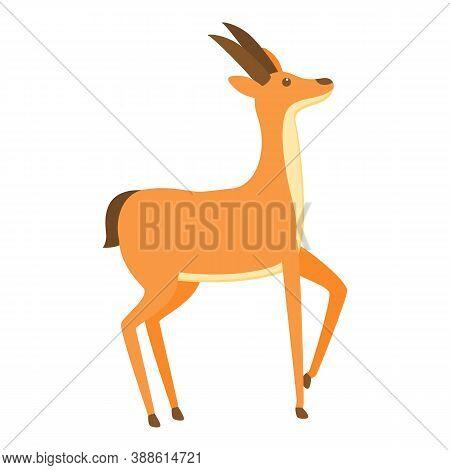Africa Gazelle Icon. Cartoon Of Africa Gazelle Vector Icon For Web Design Isolated On White Backgrou