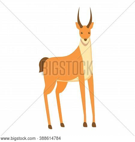Horn Gazelle Icon. Cartoon Of Horn Gazelle Vector Icon For Web Design Isolated On White Background