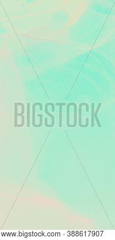Vibrant Design. Aquarelle Paint. Alcohol Ink Backdrop. Mint Pink Vibrant Design. Aquarel Design. Mar