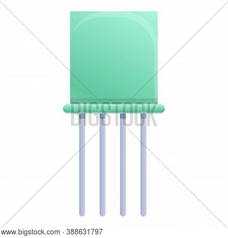 Radio Capacitor Icon. Cartoon Of Radio Capacitor Vector Icon For Web Design Isolated On White Backgr