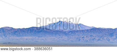 Snowy Mountain Isolated Panoramic Photo