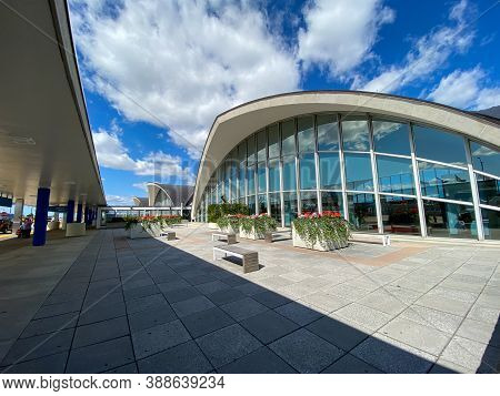 St. Louis, Mo/usa - 10/4/20:  The Exterior Of  St. Louis, Mo Lambert International Airport Stl.