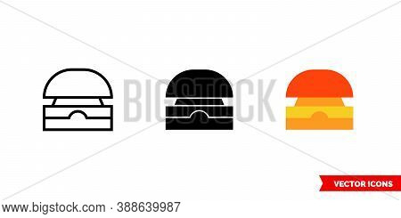 Buzzer Icon Of 3 Types Color, Black And White, Outline. Isolated Vector Sign Symbol.