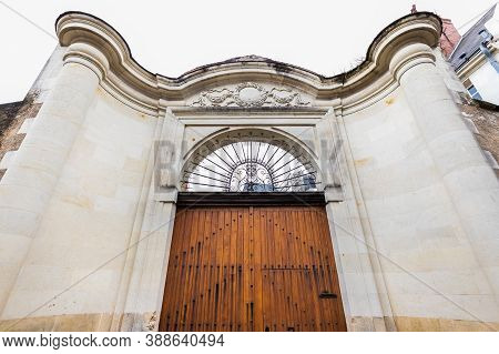 Large Front Door Of A Mansion In France