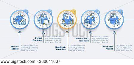 Telecommuting Software Structure Vector Infographic Template. Tasks, Templates Presentation Design E