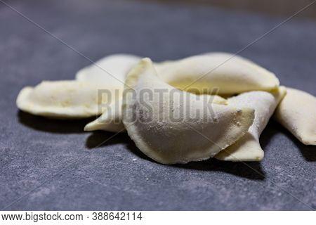 Polish Gluten-free Dumplings (pierogi), Polish National Dish Made Of Dough And Savoury Or Sweet Fill