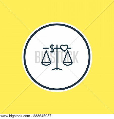 Vector Illustration Of Ethics Icon Line. Beautiful Legal Element Also Can Be Used As Principle Icon