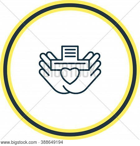 Illustration Of Nonprofit Organization Icon Line. Beautiful Justice Element Also Can Be Used As Char
