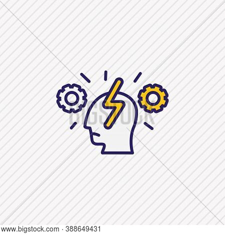 Vector Illustration Of Cognitive Process Icon Colored Line. Beautiful Emotions Element Also Can Be U