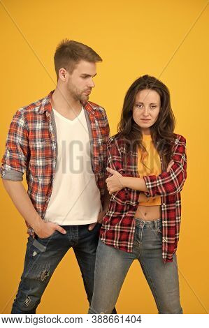 Trendsetters. Youth Lead Way In Fashion Ideas. Hipster Couple Students. Fashionable Students Couple