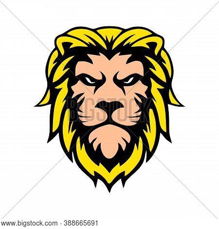 Illustration Of Lion Head Design Concept Outline Of The Wild Environment. Lion Head Line Art Design