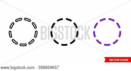 Inactive State Icon Of 3 Types Color, Black And White, Outline. Isolated Vector Sign Symbol.