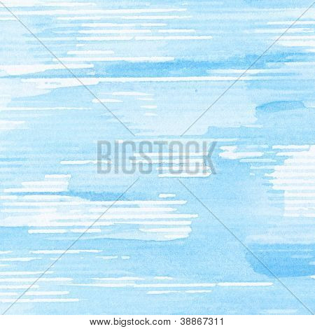 Abstract blue watercolor background, texture.