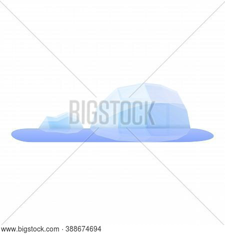 Arctic Global Warm Icon. Cartoon Of Arctic Global Warm Vector Icon For Web Design Isolated On White
