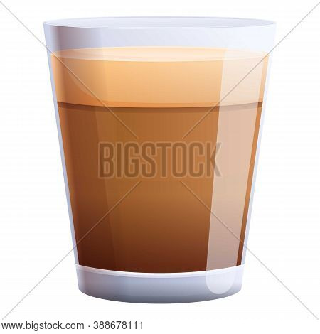 Mocha Coffee Glass Icon. Cartoon Of Mocha Coffee Glass Vector Icon For Web Design Isolated On White