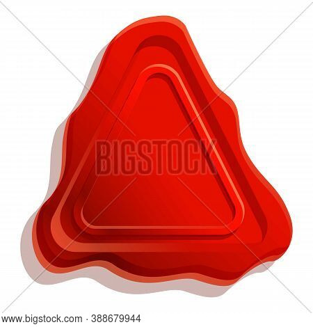 Removal Wax Seal Icon. Cartoon Of Removal Wax Seal Vector Icon For Web Design Isolated On White Back
