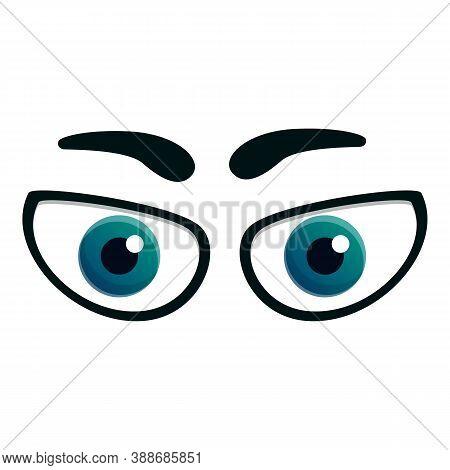 Emotional Eyes Icon. Cartoon Of Emotional Eyes Vector Icon For Web Design Isolated On White Backgrou