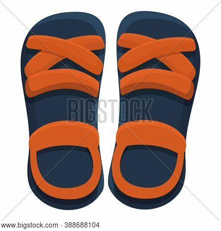 Style Sandals Icon. Cartoon Of Style Sandals Vector Icon For Web Design Isolated On White Background